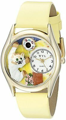 - NWOT Whimsical Watches Kids' C0120008 Classic Gold Bad Cat Yellow Leather Watch