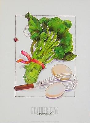 Heather King Broccoli Poster Kunstdruck Bild 40x30cm