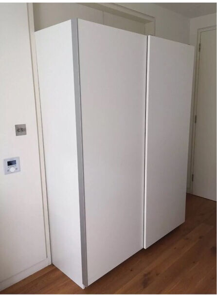 ikea pax hasvik white sliding wardrobes double door wardrobe in