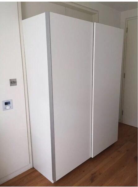 IKEA Pax Hasvik White Sliding Wardrobes Double Door