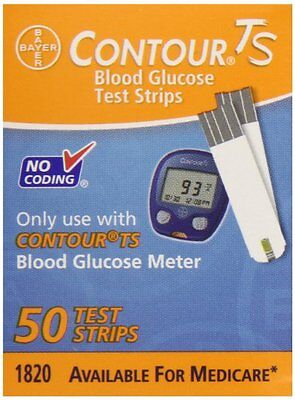 Bayer Contour TS Test Strips, 50 Count (EXP 11/2017)
