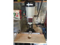 FOX table top mortiser/pillar drill with 3 Chisels - excellent working order.