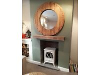 WonkyDonk upcycled cable reel mirror