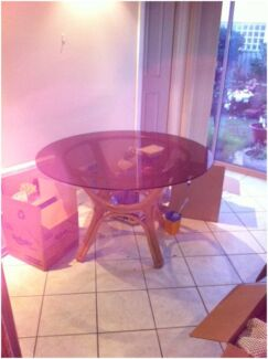80's Style Round Dining Room Table Marrickville Marrickville Area Preview