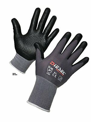 12-Pair Diesel D'LUXE Glove Ultra-Lightweight breathable Dotted palms Small - -
