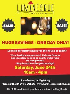 Blowout Yard Sale at Luminesque Lighting