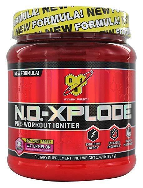 BSN N.O.XPLODE Pre-Workout Energy NO Pump 36 Servings BONUS