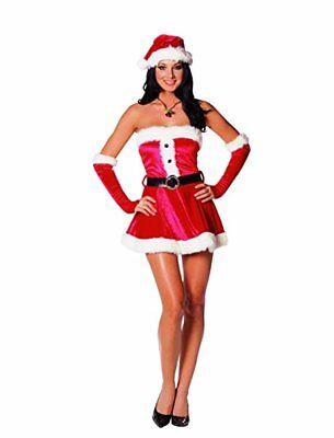 Dreamgirl Santa's Bonbon Helfer Erwachsene Damen Weihnachten Kostüm 4017