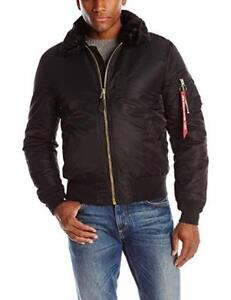 New  Alpha Industries Men's B-15 Slim-Fit Bomber Flight Jacket Condition: New, Size: Large