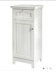 White Bathroom Storage Cabinet with Drawer NEED GONE ASAP