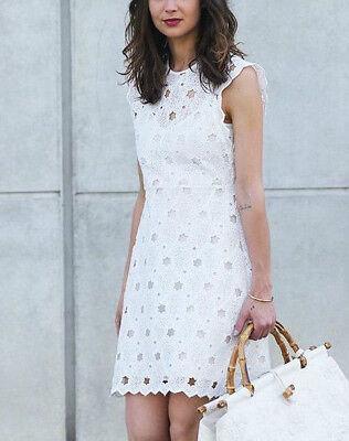 Платье ZARA OFF WHITE GUIPURE LACE