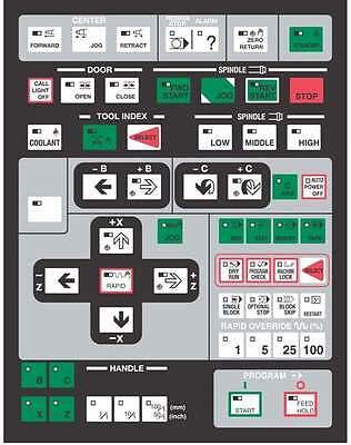Hitachi Seiki Cnc Keypad Membrane Control Panel - Hs1014
