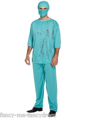 Mens Halloween Zombie Bloody Dead Doctor Surgeon Fancy Dress Costume Outfit - Dead Surgeon Halloween Costume