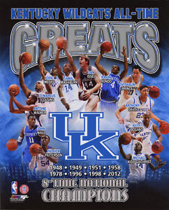 KENTUCKY WILDCATS Greats Glossy 8x10 Photo John Wall Anthony Davis Rajon Rondo