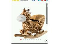 Brand new giraffe baby rocker