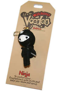 'Ninja' Watchover Voodoo Doll String Key Ring Charm, S2QE#
