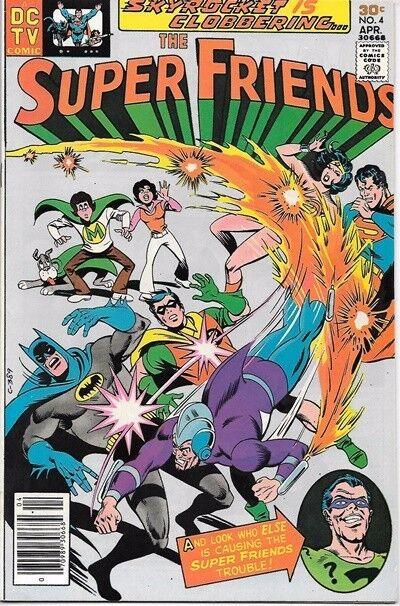 The Super Friends Comic Book #4 DC Comics TV Series 1977 VERY FINE/NEAR MINT