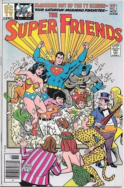 The Super Friends Comic Book #1 DC Comics TV Series 1976 VERY FINE+