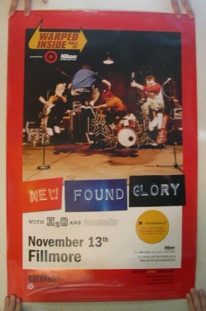 New Found Glory Fillmore Poster Concert