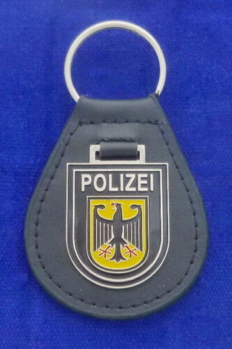 German Police Leather Key Ring
