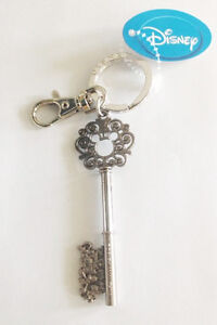 Disney Key Ring/Chain Collectible Skeleton Key Mouse Icon Gems Silver or Gold