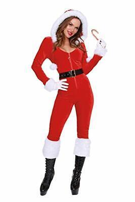 Dreamgirl Ms Mrs Claus Santa Erwachsene Damen Weihnachten Urlaub Kostüm - Mrs Santa Kostüm