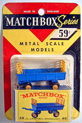 Matchbox RW 40C Hay Trailer USA Blisterpackung mit Box ()