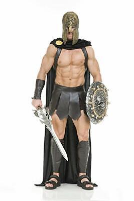 Charades Spartan Warrior Umhang Schwarz Adult Halloween Kostüm Zubehör CH02042