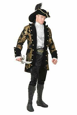 Charades Königsblau Piraten Kapitän Jacke Übergröße Adult Halloween Mode - Übergröße Adult Kostüm
