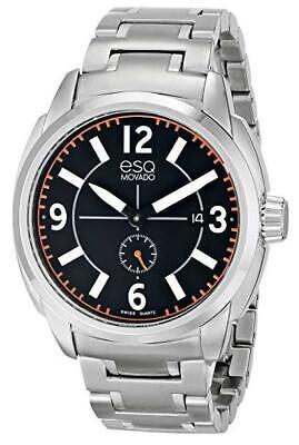NWOT ESQ Movado Men's 07301407 Stainless Steel Bracelet Watch Esq Sport Bracelet