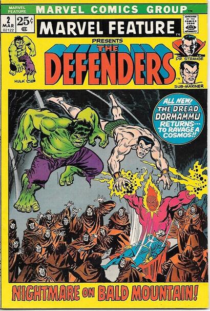 Marvel Feature Comic Book #2 The Defenders Marvel Comics 1972 VERY FINE