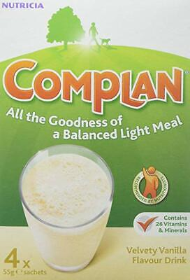 Complan Protein Energy Drink Nutritious Vanilla Flavoured Sachets 4 x 55g