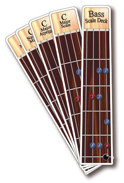 Bass Deck Scales Arpeggios Patterns for Bass Guitar Lessons Tab Beginner Book