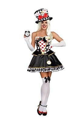 Dreamgirl White Rabbit Storybook Sexy Dress Adult Womens Halloween Costume 11160](White Rabbit Adult Costume)