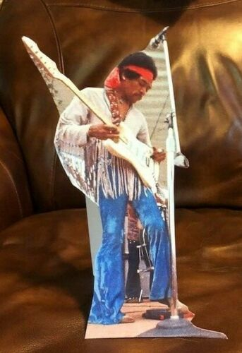 "Jimi Hendrix at Woodstock Rock and Roll Tabletop Standee 11"" Tall"