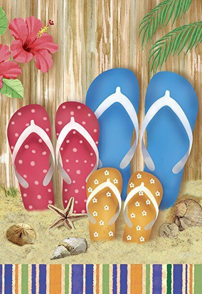 colorful beach flip flops decorative double sided