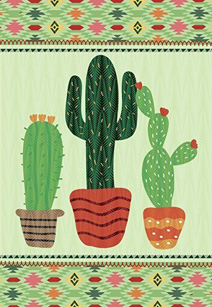 Morigins Green Columnar Cactus Double Sided Welcome Summer G