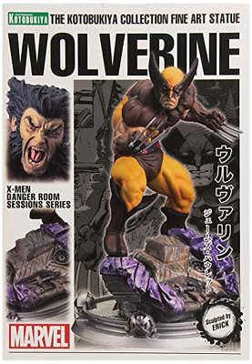 NEW Kotobukiya X-Men Wolverine Brown Costume Danger Room Session Fine Art Statue