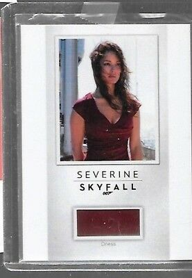 Severine James Bond relic PR19 Skyfall costume card Rittenhouse   - Skyfall Costumes