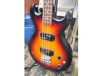 Aria Pro II Cardinal Series (CSB) Deluxe Bass Guitar - 1983 Medium Scale MIJ