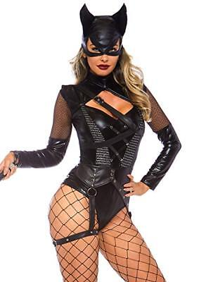 Leg Avenue Villainess Vixen Kitten Comic Book Cat Womens Halloween Costume 86759 - Villainess Costume