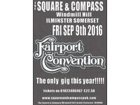 FAIRPORT CONVENTION!! Coming soon to the Square And Compass Ilminster, Buy your tickets now!!