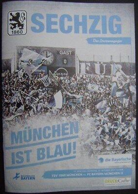 TSV 1860 München - FC Bayern München II 22.10.2017 Programm Regionalliga Bayern