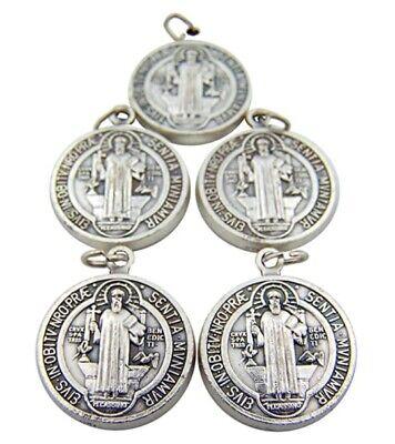 Saint St Benedict Medals Medalla De San Benito Evil Protection Charm 5pcs