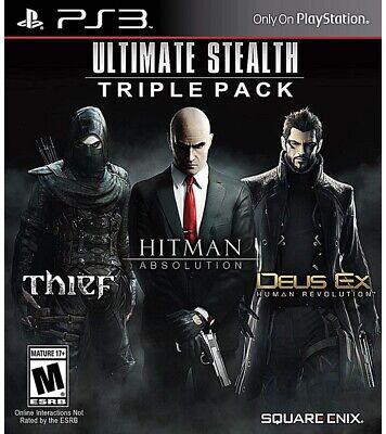 Usado, Ultimate Stealth Triple Pack (Sony PlayStation 3, PS3) - DISC ONLY comprar usado  Enviando para Brazil