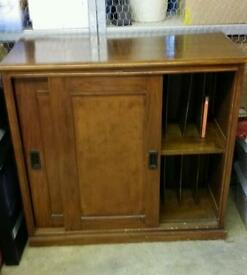 Antique mahogany filing cabinet