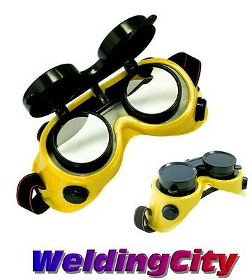 Weldingcity Welding Cutting Grinding Goggles W Flip-up Lens Din 11 Us Seller