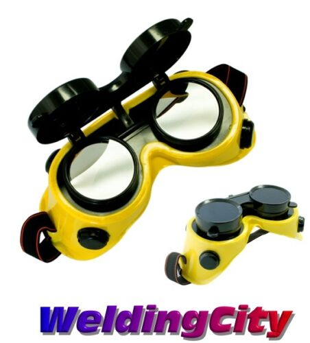 WeldingCity Welding Cutting Grinding Goggles w/ Flip-up Lens DIN #11 | US Seller