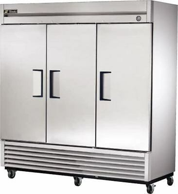 True 3 Solid Door Reach In Refrigerator T-72 Good Condition Local Pickup Only
