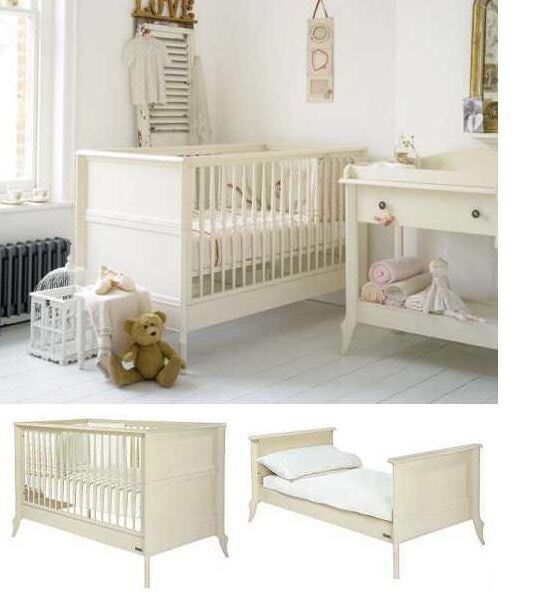 Changing table with drawers and cot bed